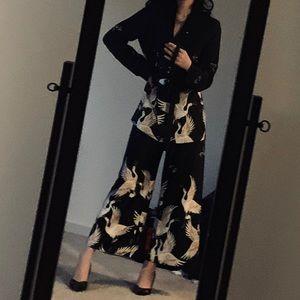 Zara satin 3 piece dress suit set